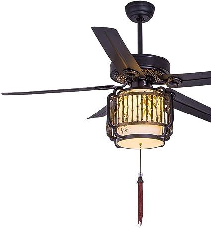 ZCX Nuevo ventilador de techo chino, sala de estar, hogar, hoja de ...