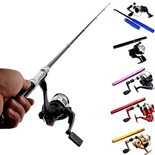 Mini Telescopic Portable Pocket Pen Fishing Rod Reel+nylon Line Set