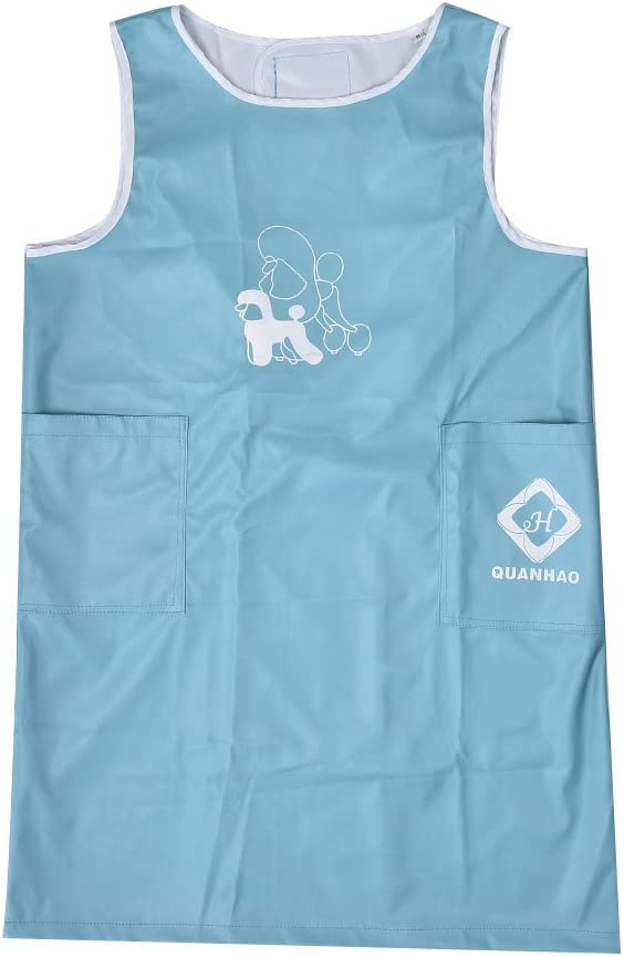 Myonly Waterproof Nylon Apron Anti-Static Pet Cat Dog Grooming Cooking Kitchen Aprons Smock with Pockets for Women Men