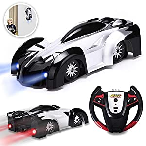 YEZI Remote Control Car Kids Toys for Boys Girls,Head and Rear with Powerful LED Light,360°Rotating Stunt Wall Climbing Car with Remote Control, Intelligent Glowing USB Cable Girl and Boy Gifts