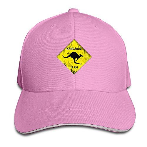 Roadsign Kangaroo Fitted Sandwich Baseball Cap Hat ()