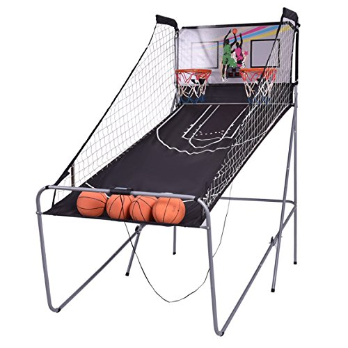 Electronic Basketball Double Hoop Backboard Game w/4 Balls With Ebook by oldzon