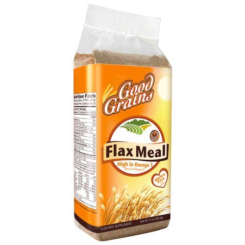 Good Grains Ready-To-Eat Flax Seed Meal (4 Bags 15 oz) by Good Grains