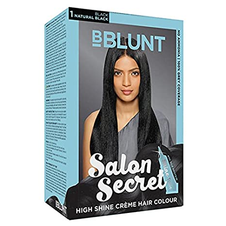 0b8d8e0fb81 Buy BBLUNT Salon Secret High Shine CreMe Hair Colour (Natural Black  1) 100  Gm With Ayur Product In Combo Online at Low Prices in India - Amazon.in