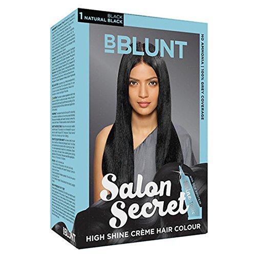 BBLUNT Salon Secret High Shine Creme Hair Colour Black Natural Black 1