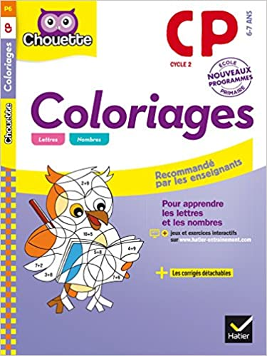 Coloriage Francais Cp.Collection Chouette Francais Coloriages Cp 6 7 Ans Amazon De