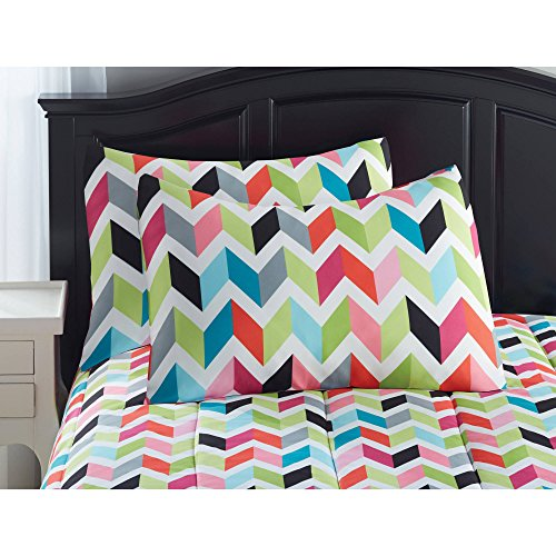 Newyour zone bright chevron Bed in a Bag bedding set