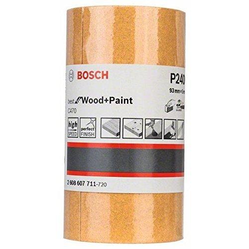 93 mm, 5 m, K/örnung 120 Bosch Professional C470 Schleifwalze Farbe f/ür Holz