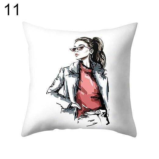 yongqxxkj Relax Fashion Cool Girl Lady Funda de Almohada ...