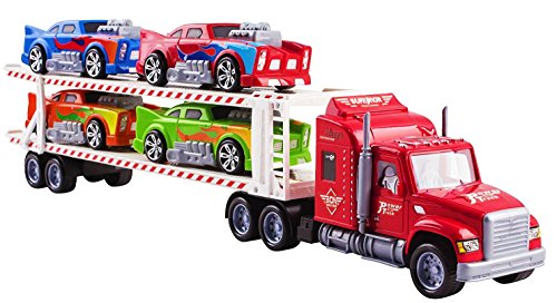 Toy Semi Truck (Toy Truck Mega Big Rig Trailer Semi Truck Transporter 24