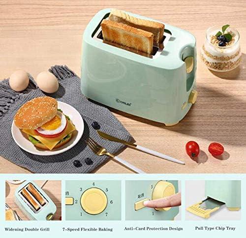 PLEASUR Mini Grille-Pain à Fente Extra Large à 2 tranches, Ovale Classique, Bleu avec Acier Inoxydable - Entièrement Automatique