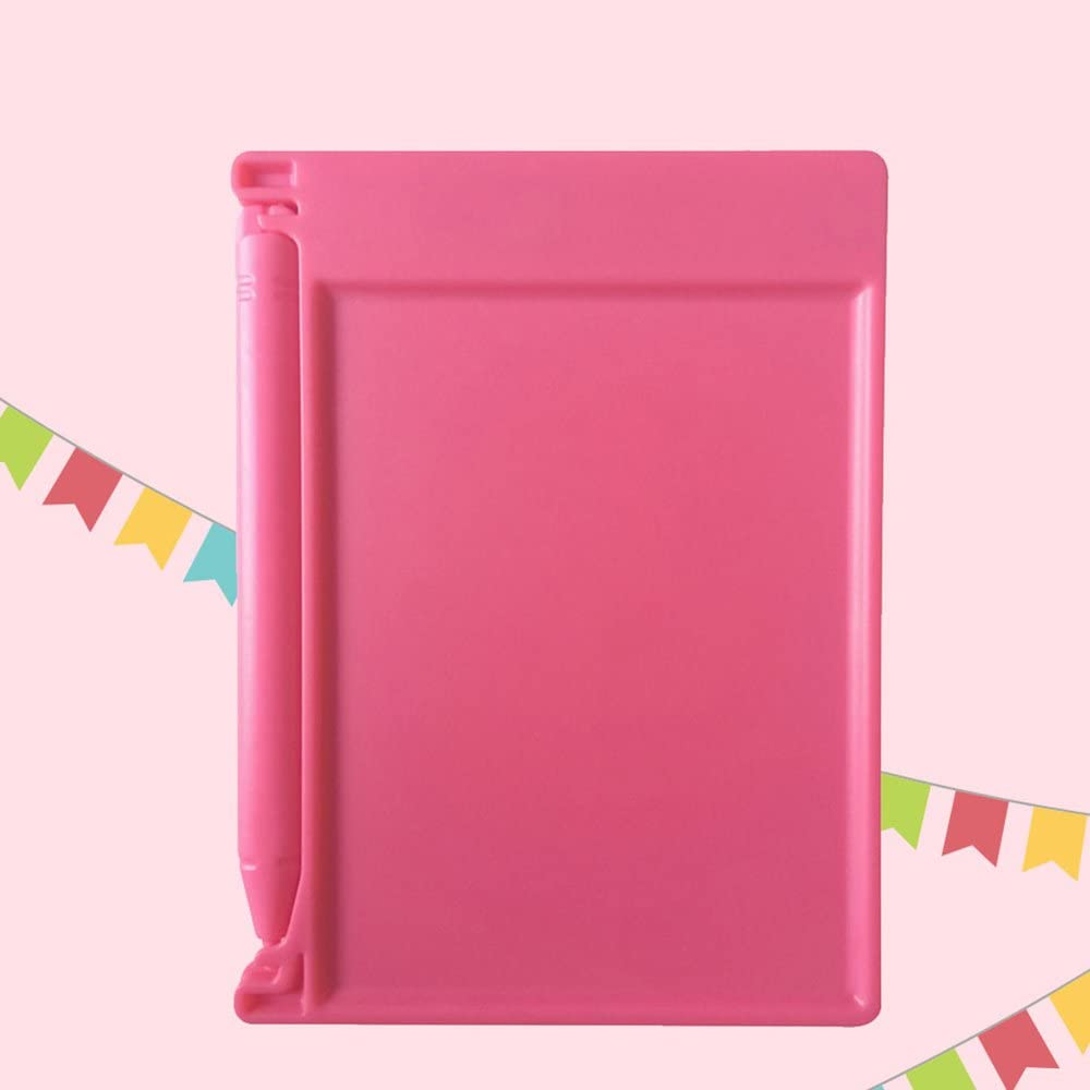 Vaorwne LCD Writing Tablet Paperless Memo Pad Writing Drawing Board 4.4 Pink