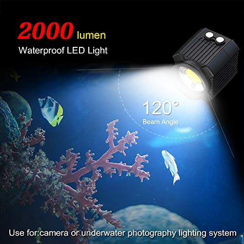 MEIKON Mini Waterproof led Light Scuba Diving Lights Fill-in Light for Waterproof housing Underwater Photographic Lighting System ... by MEIKON (Image #1)