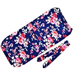 Lantusi Newborn Blanket Swaddle Print Sleeping Bag Flower Print Anti-Kick Sleeping Bag Towel & Hair Band (#2)