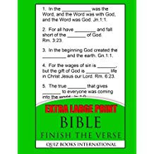 Extra Large Print Bible Finish The Verse: Includes 250 Bible Verses