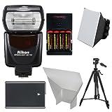 Nikon SB-700 AF Speedlight Flash with EN-EL14 & AA Batteries + Tripod + Softbox + Reflector for D3300, D3400, D5300, D5500, D5600 DSLR Cameras