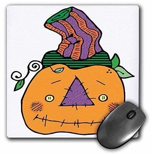 3dRose Blonde Designs Happy and Haunted Halloween - Halloween Cutie Jackolantern - MousePad (mp_131174_1)