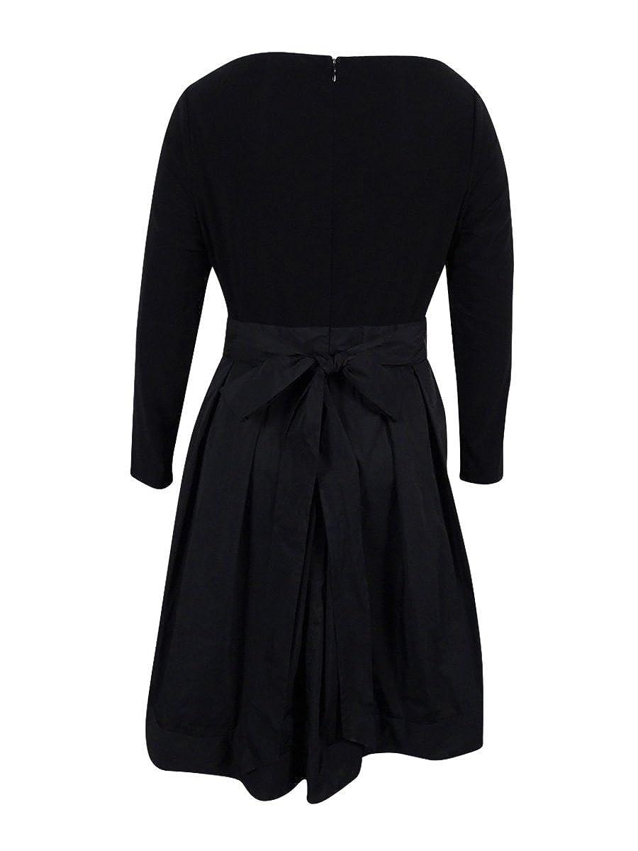 21ca9f4b05b Lauren Ralph Lauren Women s Plus Size Jersey   Taffeta Party Dress (22W