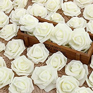Artificial Dried Flowers - 50pcs Lot 6cm Artificial Rose Flowers Foam Flower Head Bouquet Handmade Diy Wedding Decoration Party - Stemmed Cm Silicon Roses Crystal Buds 7cm Crystals Fabric Balls 39