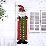 RoomDiary Christmas 24 Days Hanging Cloth Advent Calendar, Santa Christmas Countdown Calendar, Christmas Decoration Ornament Perfect for Home or Office 36'' Tall (Santa Claus)