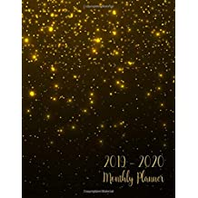 2019-2020 Monthly Planner: Two Year - Monthly Calendar Planner | 24 Months Jan 2019 to Dec 2020 For Academic Agenda Schedule Organizer Logbook and Journal Notebook Planners | Black Gold Cover