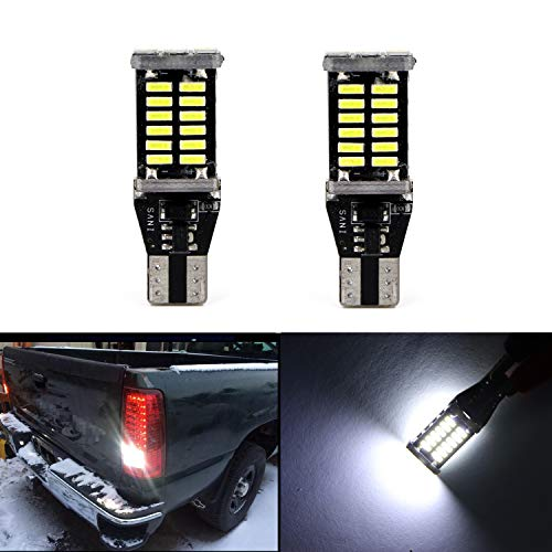912 921 906 904 902 W16W Reverse Light Bulbs Map Light Super Bright 30pcs 4014SMD LED Brake Tail Bulb Lights Backup Lights Lamp (Set of 2)