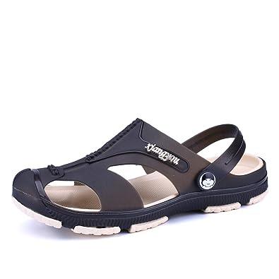 1981e9c12 KRIMUS Non-Slip Comfortable Gardon Shoes for Men-black-40