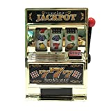 Vintage Jackpot Golden Casino Slot Machine Money Box Bank Toy for Kids