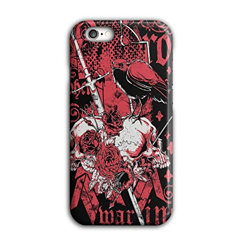 Marine Crow Rose Skull Crow Goth iPhone 6 / 6S Case | Wellcoda (Spells To Do On Halloween)
