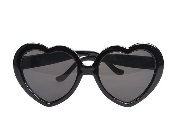 9bf11f1048 Amazon.com  Tonwhar Womens Girls Heart-shape Sunglasses Cute Lolita ...