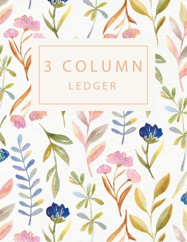 3 Column Ledger: Record Book Account Journal Book Accounting Ledger Notebook Business Bookkeeping Home Office School 8.5x11 Inches 100 Pages (Column Ledger Notebook) (Volume 3)