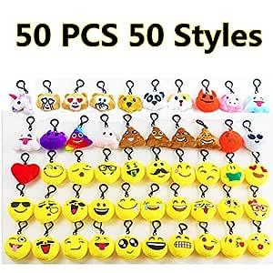 V4vmbbciee Paquete de 50 Almohadas de Felpa Emoji Mini ...