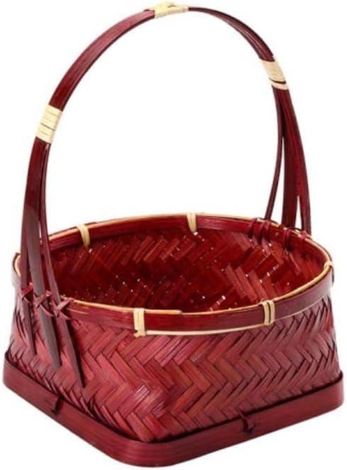 HongTeng Natural Bamboo Baskets, Bamboo Baskets, Portable Baskets, Fruit Baskets, Tea Storage Baskets, Snack Baskets 25202010cm 51HvHapQVvL