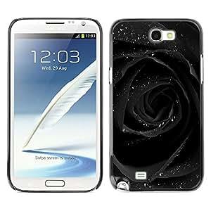 For SAMSUNG Galaxy Note 2 II / N7100 Case , Rose Water Glitter Romantic Dark - Diseño Patrón Teléfono Caso Cubierta Case Bumper Duro Protección Case Cover Funda