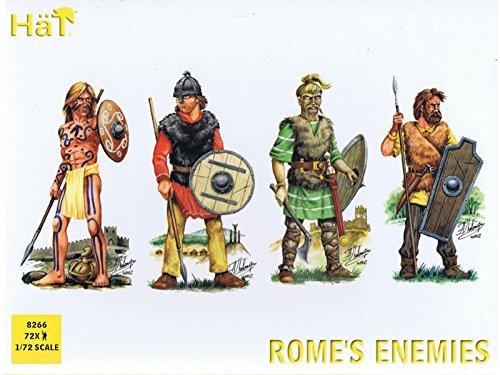 HaT 8192 Toy Soldiers Roman War Rome's Enemies 72 Figures 1/72 Scale Unpainted Plastic ()