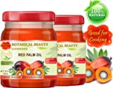 RED PALM OIL. 100% Pure / UNREFINED / EXTRA VIRGIN / Undiluted Cold Pressed. SUPER FOOD. 7.75 Fl.oz – 225 ml. ( pack 2)