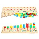 Baby Early Educational Toys Wooden Toy,Montessori Materials Kids Baby Children Gift Wood Math Blocks Shape Sorter Knob Puzzle Learning & Education Cognitive Math Toys