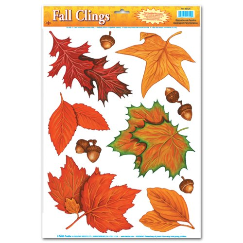 Fall Leaf Clings Party Accessory (1 count)