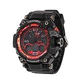 SINOBI Men's Sport Watch Digital Analog Waterproof Military LED Rubber Strap Wrist Chronograph Watch