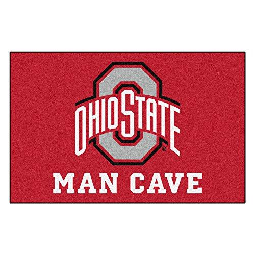 Fanmats 14584 Ohio State University Nylon Universal Man Cave Starter Rug (State Starter Rug)