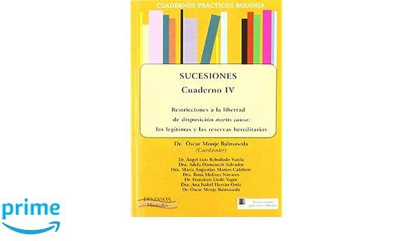 Sucesiones / Inheritance: Restricciones a la libertad de disposicion mortis causa: las legitimas y las reservas hereditarias / Restrictions on Freedom .