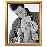 Malden International Designs Traditions Molding Wooden Picture Frame, 8 by 10-Inch, Gold
