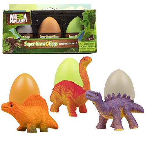Animal Planet Grow Eggs- Dinosaur- Hatch and Grow Three Different Super-Sized Animals (Series 2) -