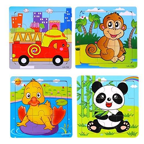 Kinder Cartoon Puzzle Holz Puzzle Spielzeug Kreative Frühkindliche Bildung Tiere Spielzeug