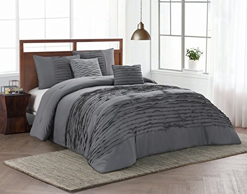 Avondale Manor Spain 5 Piece Comforter Set, Queen, Charcoal by Avondale Manor