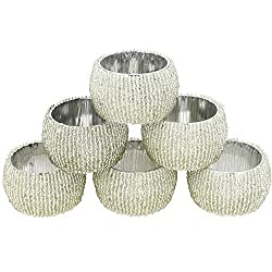Indian Silver Beaded Napkin Rings