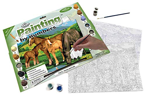 Royal & Langnickel Painting by Numbers Junior Large Art Activity Kit, Horses and Foals (PJL13)