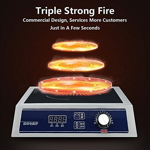 3500W YIBEIHONG Restaurant Electric Countertop Commercial Induction Cooktop Range Burner
