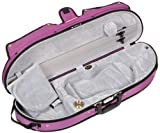Bobelock Half Moon Puffy 1047P 4/4 Violin Case with Purple Exterior and Grey Interior