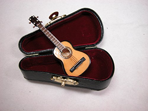 Dollhouse Miniature Music 1:12 Scale Small Guitar Set #Z210 from Mini Bear Gems